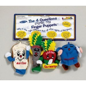 Passover Finger Puppets - The Four Questions - Set Of 4 by Rite Lite