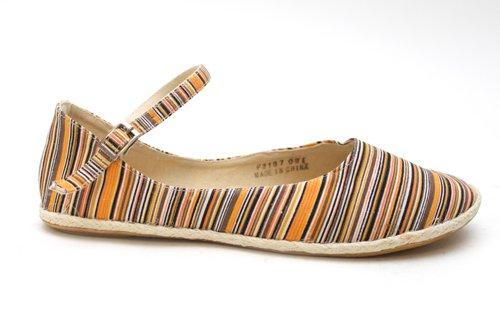 Womens Striped Strap Flat Espadrilles Espadrille Pump Shoes Size UK 3 4 5 6 7 8