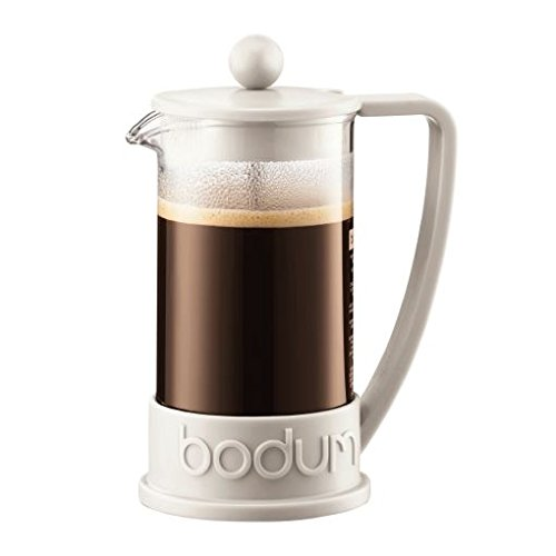 Bodum Brazil French Press Coffee Maker/Cafetiere 3 Cup 0.35L (12Oz) - Off White