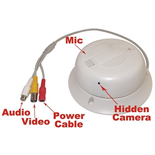 Evertech 1/3″ Sony Color 700 TVL CCD High Quality Audio Functional Real Smoke Alarm Detector Hidden CCTV Security Covert Camera 12V Adapter Is NOT Included