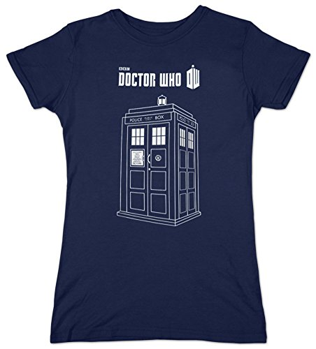 7 Doctor Who Series Linear Tardis Junioren Marineblau T-Shirt Blu blu