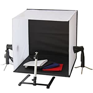 Portable 50 x 50 x 50 cm Camera Photo Studio Box Light Lighting Cube Tent Kit with Tripod Four Backdrop