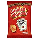 Golden Wonder Heinz Tomato Ketchup Crisps 6 Pack 150g