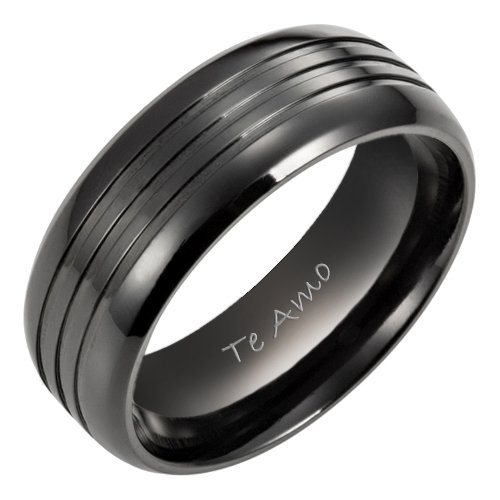 Black Mens Wedding Ring