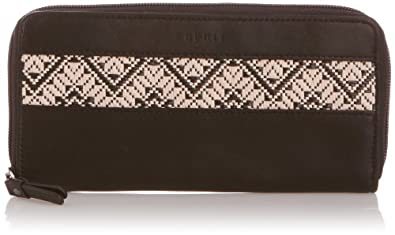 Esprit Womens Elena Zip Clutch Wallet 054EA1V021 Black