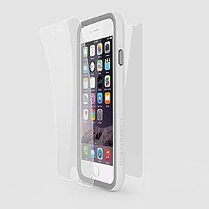 RhinoShield Crash Guard: Slim Impact Bumper Bundle Impact Protector for 5.5-inch iPhone 6 Plus (White)