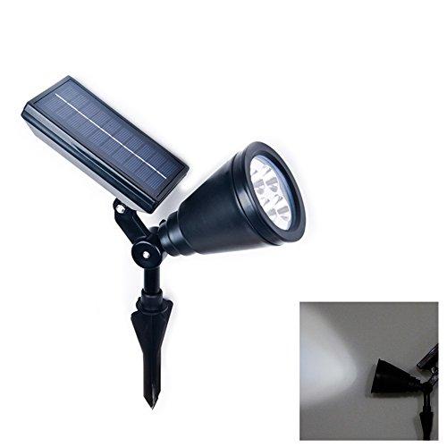 Elinkume Solaire 4LED nouvelle lampe de projection est inséré lampes solaires en plastique Caoping deux chargée