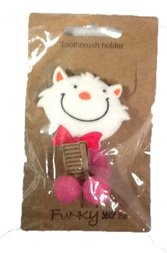 動物 吸盤 歯ブラシホルダー 猫