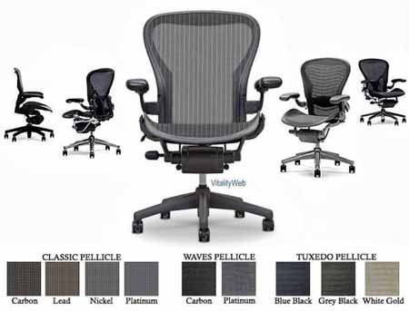 Herman Miller Aeron Desk Chair Basic Ergonomic Task Chair   Size B Graphite  Frame, Classic Carbon Reviews.