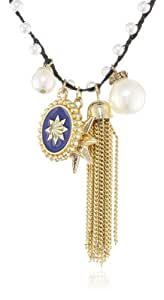 Jessica Simpson Parisian Charm Tassel Necklace, 16""