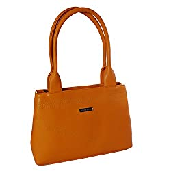 Womaniya Women's Handbag (Brown) (Silver Rose Collection-196)