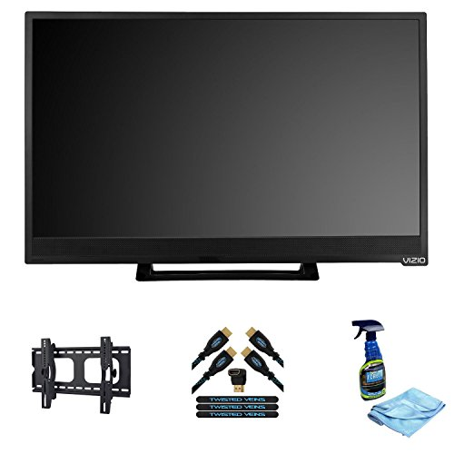 41d6Zm6j3tL VIZIO 24 Class (23.54 Diag.) Razor LED TV +Digicom PMA 6031 Plasma & LCD TV Flat Wall Mount Universal Design for 22 to 37 Displays + Twisted Veins 6ft High Speed HDMI 2 Pack (includes TWO 6 cables, Right Angle Adapter, Velcro Ties)   Latest Version: Supports Ethernet, 3D, and Audio Return + Flat Screen, LCD, Plasma & TV Screen Cleaner  Free Shipping