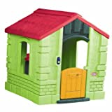 Traditional Little Tikes Secret Garden Cottage in Evergreen - Cleva Edition ChildSAFE Door Stopz Bundle