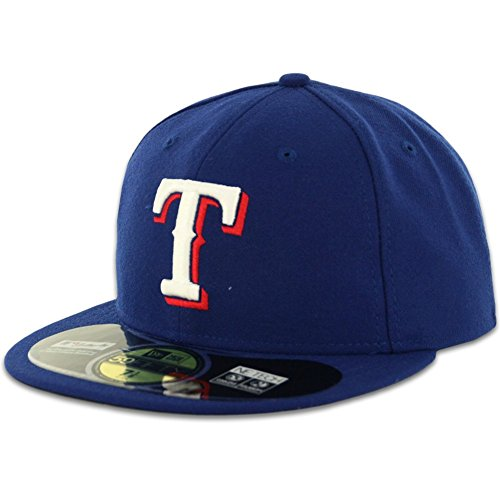 MLB Texas Rangers Game AC On Field 59Fifty Fitted Cap, Royal, 7 (Texas Rangers compare prices)