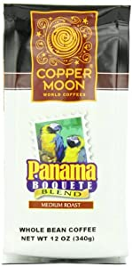 Copper Moon Panama Bouquete Coffee, Medium Roast, Whole Bean, 12-Ounce Bags (Pack of 3)