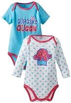 Gerber Baby-Girls Newborn 2 Pack Attitude Onesies Bodysuit