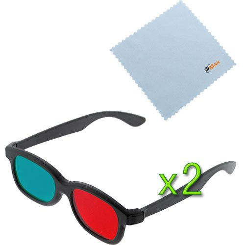 GTMax 2pcs 3D Red/Cyan (Basic Square) Glasses