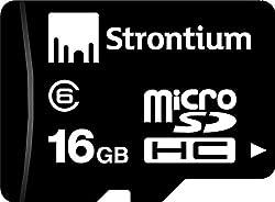 Strontium 16GB Micro SDHC Memory Card (Class 6)