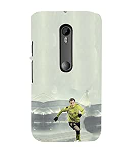 EPICCASE Goalkeeper in Green Jersey Mobile Back Case Cover For Moto G Turbo (Designer Case)