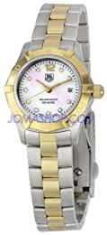 Tag Heuer Women s WAF1425 BB0825 Aquaracer 27mm Two-Tone Diamond Dial Watch