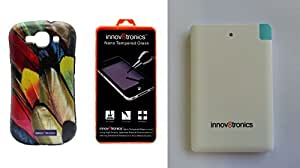 Innov8tronics Back Cover For Samsung S3 with Tempered Glass & 2500mah power house