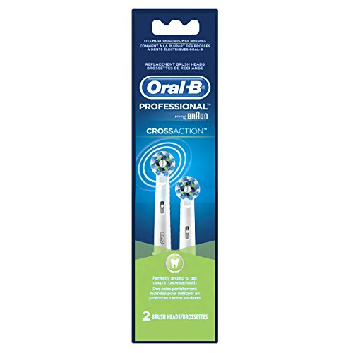 Oral-B Cross Action Brush Head Refills, 2 Count