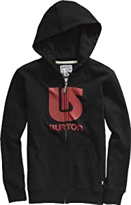 Burton Kinder Kapuzenjacke LOGO VERTICAL FULL-ZIP, TRUE BLACK, 140, 257546