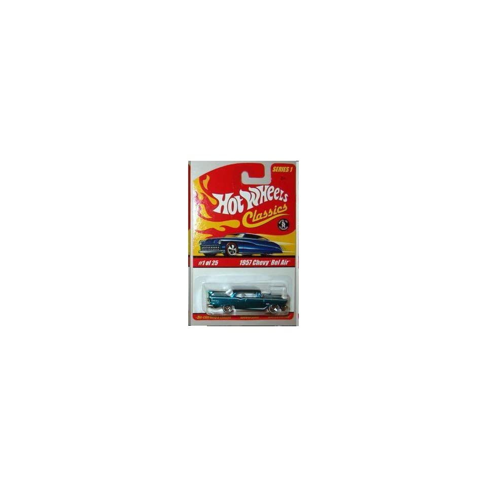 Hot Wheels Classics Series 1 57 Chevy Bel Air Blue #1 of 25 164 Scale Collectible Die Cast Car with a Special Spectraflame Paint