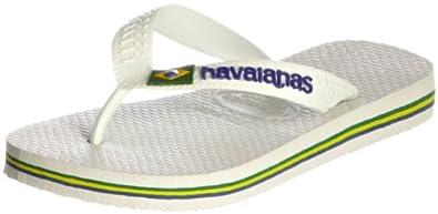 Havaianas Brasil Logo White - Adult Unisex 41/42 uk