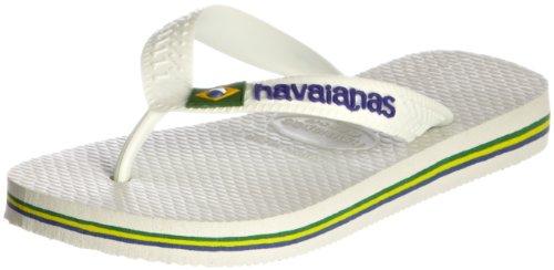 Havaianas Brasil Logo Flip Flops - White [4110850.0001.334] (1/2 UK)