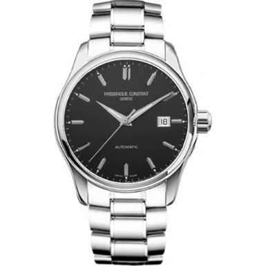 Frederique Constant Classic Black Dial Stainless Steel Mens Watch FC-303B5B6B