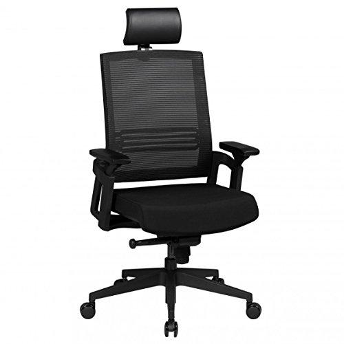 FineBuy-Brostuhl-OTTO-1-Stoffbezug-Schreibtischstuhl-hhenverstellbar-Armlehne-ergonomisch-hhenverstellbar-schwarz-Chefsessel-Design-120-kg-Drehstuhl-Synchronmechanik-hohe-Rcken-Lehne-X-XL-Hochlehner