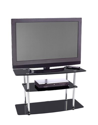 Convenience Concepts 157032 Classic Black Glass TV Stand for Flat Panel TV's photo