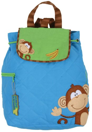 Stephen Joseph Boys 2-7 Quilted Backpack Monkey
