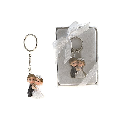 Lunaura Wedding Keepsake - Set of 12 Baby Wedding Couple Key Chain Favors