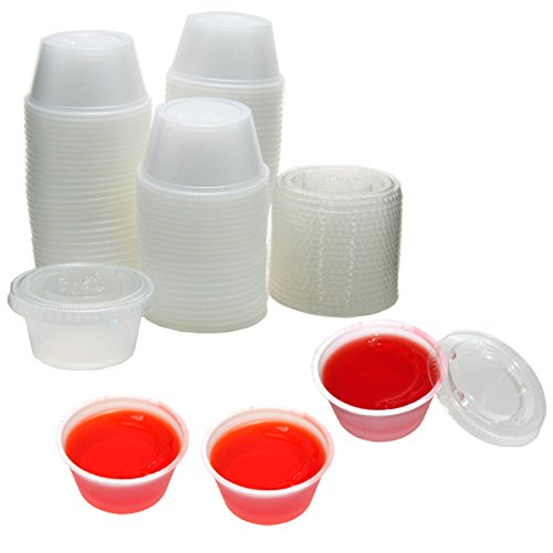 Polar Ice PI125200CT 125 Count Plastic Jello Shot Cups with Lids, 2-Ounce (Small Cups With Lids Disposable compare prices)