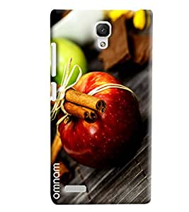Omnam Apple With Other Effects Of Fruits Designer Back Cover Case For Xiaomi Redmi Note