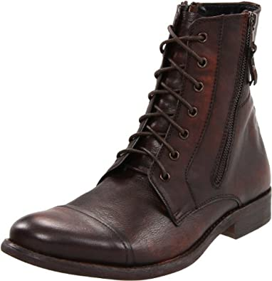 Kenneth Cole REACTION Men's Hit Men Lace-Up Boot,Brown Leather,8 M US