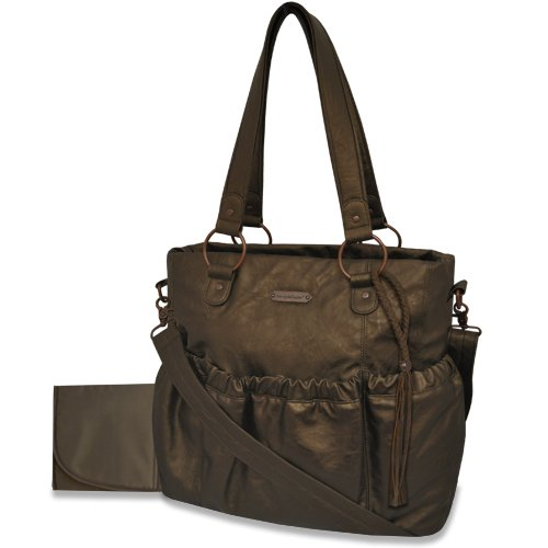 Wendy Bellissimo Rusched Diaper Bag, Bronze