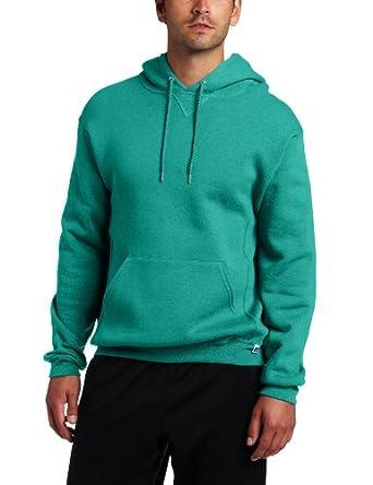 Russell Athletic Men's Dri Power Hooded Pullover Fleece Sweatshirt, Aqua, Small