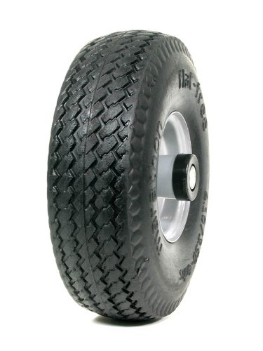 Marathon Industries 00015 - 4.10/3.50-4-Inch Flat Free Tire with Sawtooth Tread