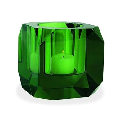 Green Octagonal Crystal Tealight Holder by Seletti||RF20F