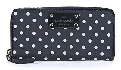 Kate Spade Neda Spot Nylon Wallet in Black & Cream