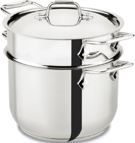 All-Clad E414S664 Stainless Steel Pasta Pot and