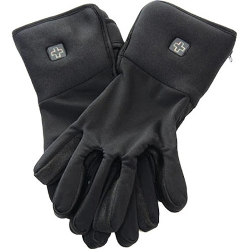 VentureHeat 7.4 Volt Battery Powered Liner Men's Heated Street Motorcycle Gloves - Black / X-Large (Battery Powered Glove Liners compare prices)