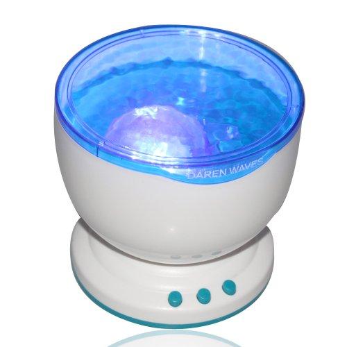 Flylinktech Romantic Ocean Daren Sea Waves Projector Lamp Led Night Light With Speaker front-184932