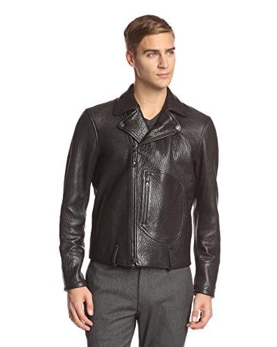 John Varvatos Collection Men's Biker Jacket with Zip Patch Pocket