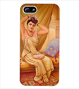 ColourCraft Amazing Painting Design Back Case Cover for APPLE IPHONE 5S
