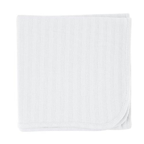 Hudson Baby Organic Receiving Blanket, White
