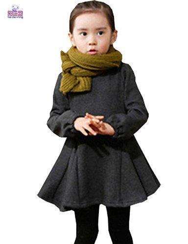 CBIN&HUA Vestito Girl Manica lunga Inverno Misto cotone , red-140 , red-140
